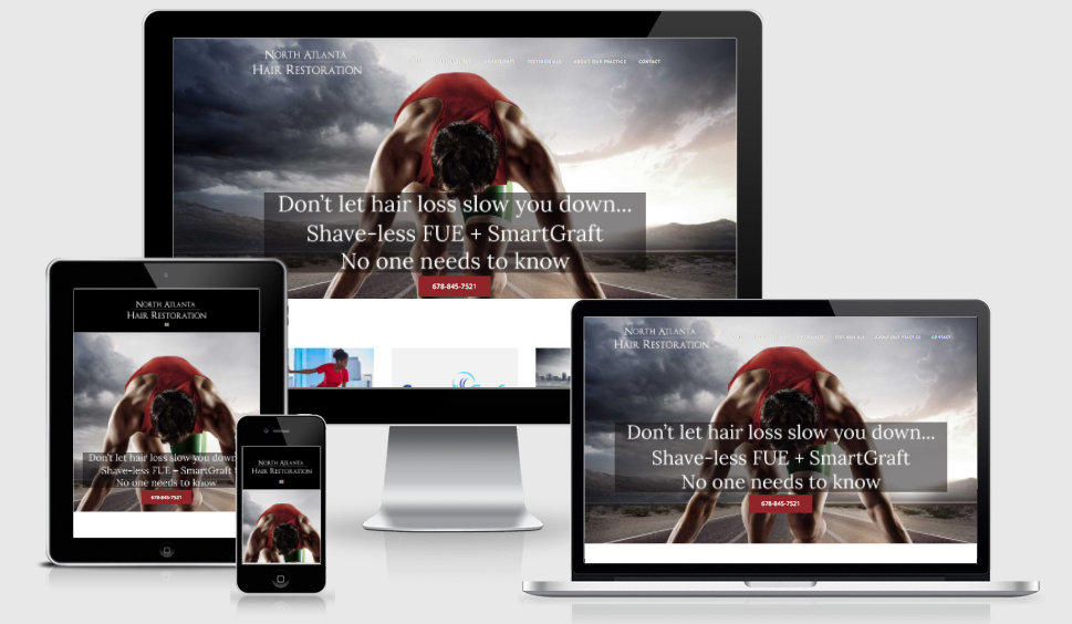 Example of a responsive website by Atlanta web design company Sugar Five Design