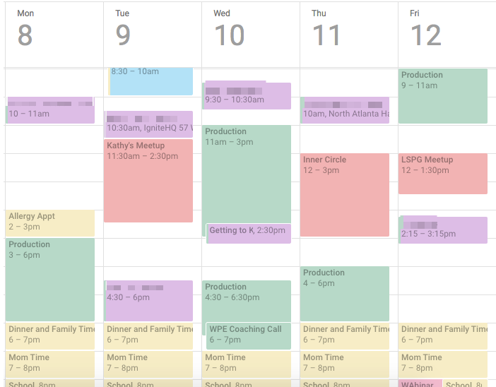 organizing with google calendar