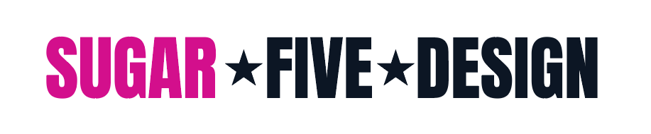 Sugar Five Design text logo